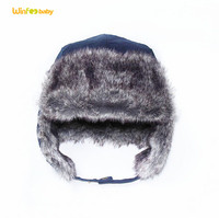fox fur trapper hat/ raccoon fur aviator hat/faux fur baby boy winter hats