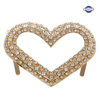 fashion ladies metal shoe buckle for boots\/rhinestone shoe decorations