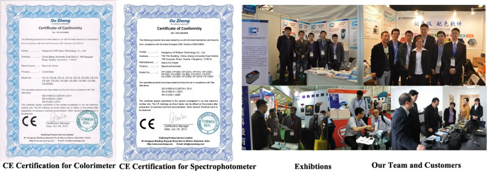 CS-600 Spectrophotometer for ISO 2470 Brightness Level Measurement of paper, canvass, textile and leather