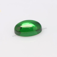 New arrival loose cubic zirconia green oval cabochon cz stone