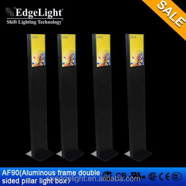 Edgelight AF90 light led flat panel displays ,free standing A4 poster size