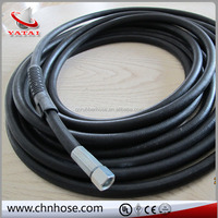 black high pressure oil and petrol resistant hydraulic fluids such as mineral oil and fuels field hydraulic rubber hose
