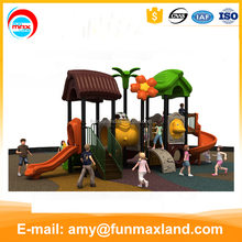 Curved children outdoor playground slide used playground equipment