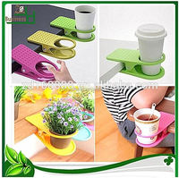 Home Office Use Desk Plastic Coffee Clip Drink Cup Holder