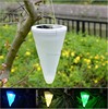 Hanging Solar Led Lights White LED Light Outdoor Garden Hanging Tree Cornet Cone LED Lights