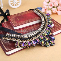 High quality fashion crystal collar necklace jewellery in dubai NSNK-26910