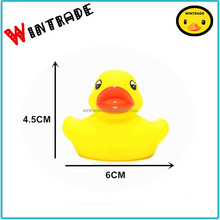 6CM yellow baby plastic duck bath rubber duck