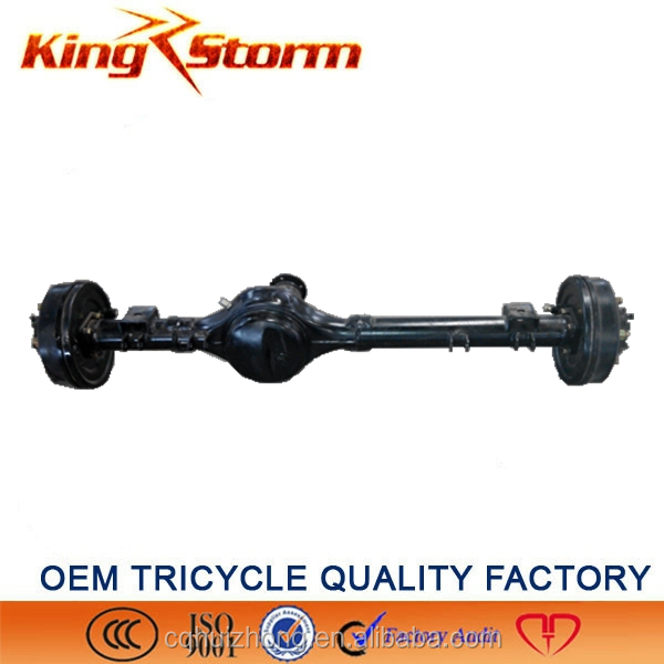 2015 high performance KINGSTORM auto rickshaw/three wheel tricycle differential rear axle