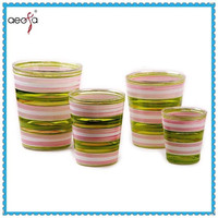 glass flower pot paintings wholesale colorful plant pots