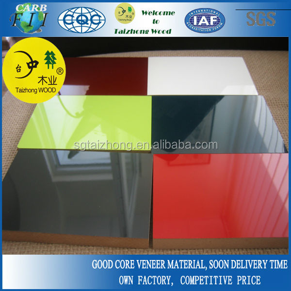 Glossy polyester MDF panels