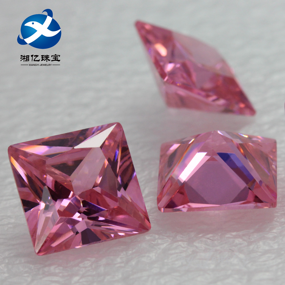 Fancy Shape Square Cubic Zirconia Pink CZ Loose Stone