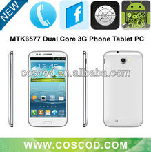 5.5 inch Dual core smart Phone MTK6577 3G+GPS+Blutooth+Dual Sim card slot