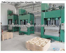 hot press hydraulic sawdust and shaving made wood pallet machine