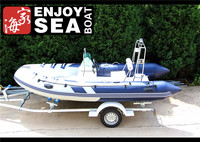 PVC CE rigid hull fiberglass inflatable boat!