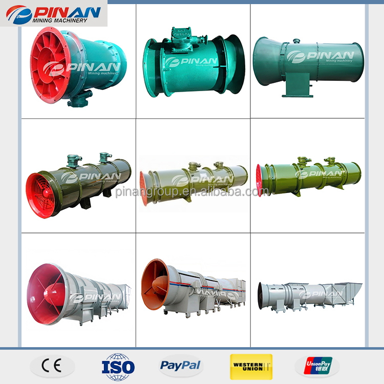 China manufacture special mine exhaust fan
