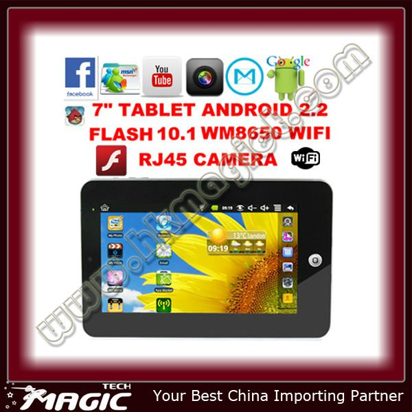 7 inch Google Android 2.2 Tablet pc with CE Certification