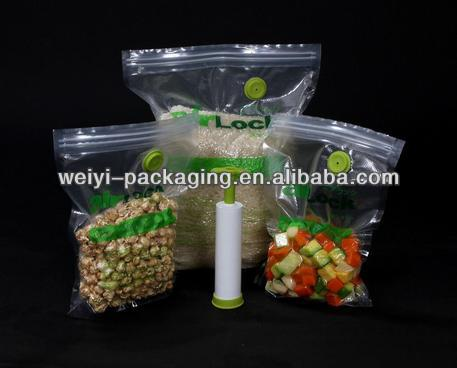 resealable vacuum food bags for Potato Chip/Raisin/Snack/and more