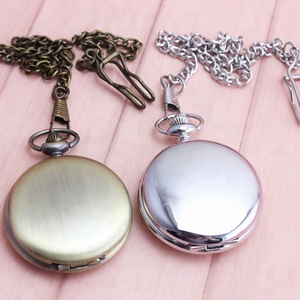 Blank Polished Mirror Pocket Watches Men