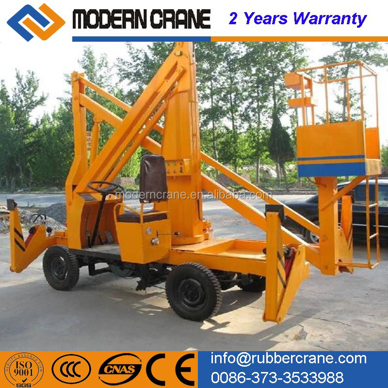 Lifting height 25m, 230kg load capacity Self-propelled articulated boom lift/aerial access work platform for man lift