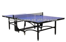 Indoor Rollaway Blue Table Tennis Table with Net