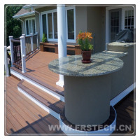 140*23mm eco friend deck tiles hot sale wood plastic wpc decking floor UV resistant wpc decking