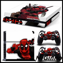Vedio Game Accessories For Playstation 4 PS4 Vinyl Skin Sticker Deadpool Cover