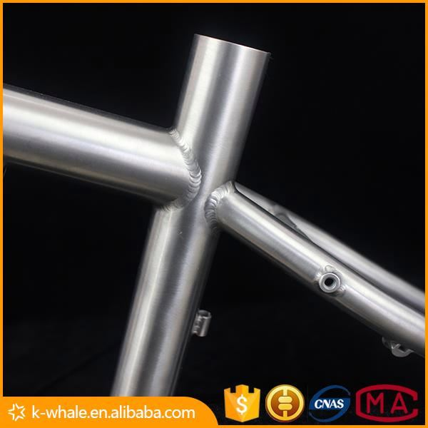 Titanium cyclocross bike frame with SP customized titanium touring bike frame with seat post XACD 50cm Ti cyclocross bike frame