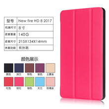 Hot selling Fashional(caster-grain)Ultra-Thin PU leather flip tablet case for Amazon New Fire HD 8(2017) With stand function