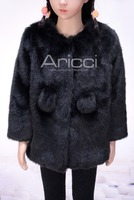 China supplier hot selling new style winter faux fux fur coat for children