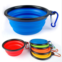 2017 hot selling Dog Folding Collapsible Feeding Bowl Silicone Water Dish Cat Portable Feeder Puppy Pet Travel Bowls