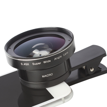 0.45X Wide angle lens and 12.5X Macro lens Mobile camera lens for Iphone and smartphone