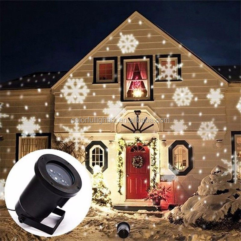 2016.Outdoor Snowflake Landscape Laser Projector Lamp Xmas Garden LED Light