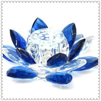 Colorful Crystal Lotus Flower Decoration for Romance Lovers