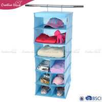 New Wall Door Hanger Storage Bag Organizer Container Multi-layer Bag Pockets PP Non-woven Shoe Rack Hanging Closet Organizer