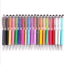 Crystal Pattern 2 in 1 Multi Touch LCD Screen Stylus Styli with Ball Point Pen
