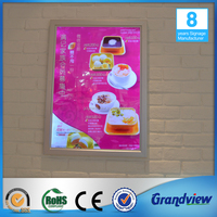 Wall mount Led menu board picture frame sign slim light box