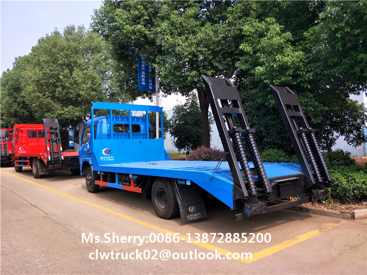 CLW Manufacturer Dongfeng 4x2 Flatbed Excavator Transport Truck