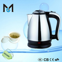 CE GS CB 1.8L stainless steel electric stock kettle for kitchen appliance