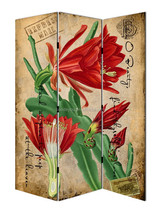 oil painting flower wooden furniture/room divider