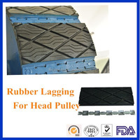 lagging material, pulley lagging rubber sheet, rubber pulley wheels