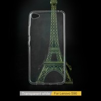 New Product Funky Mobile Phone Accessories Slim Transparent TPU phone Case for Lenovo S90