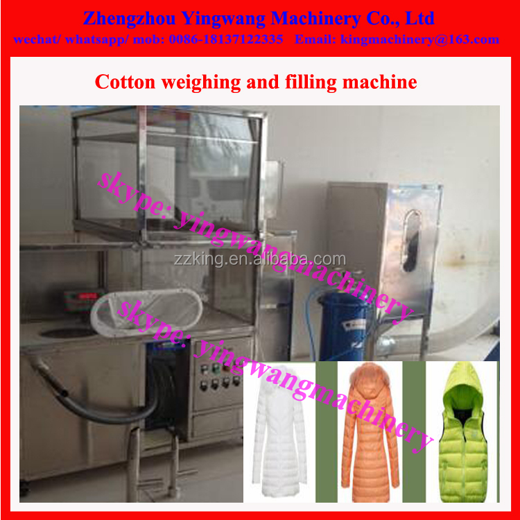 Feather dress / down jacket filling machine