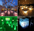 remote control wireless led lighting under table light wedding decoration