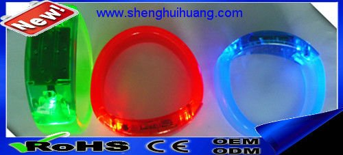 high quality Flashing LED bracelet different color customed for Festival/Party Decoration/Gift