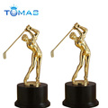 Golfman metal trophy figurine