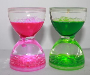 New Floating Color Mix Illusion Timer Liquid Motion Visual Slim liquid Oil Glass Acrylic Hourglass Timer Clock Ornament Desk
