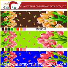 one design three colours flower design Polyester printed fabric used for hometextile fabric