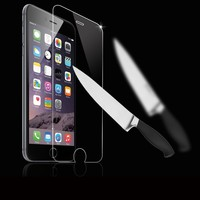Free sample ! Top quality 0.33 mm 2.5 D 9H Asahi tempered glass screen guard for Iphone 6