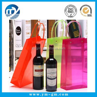 High quality promotional tote plastic pvc red wine bag with fashion design