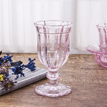 Wholesale red wine glasses cups goblet dinnerware sets fancy glassware